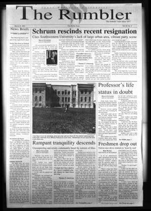 The Rambler (Fort Worth, Tex.), Vol. 83, No. 9, Ed. 1 Wednesday, March 29, 2000