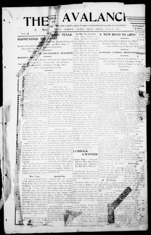 The Avalanche. (Lubbock, Texas), Vol. 9, Ed. 1 Friday, July 24, 1908