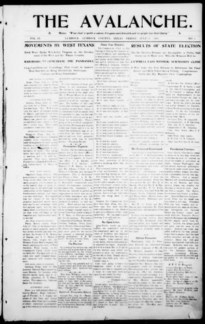 The Avalanche. (Lubbock, Texas), Vol. 9, No. 2, Ed. 1 Friday, July 31, 1908