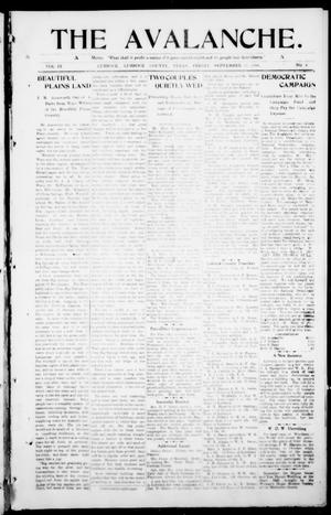 The Avalanche. (Lubbock, Texas), Vol. 9, No. 8, Ed. 1 Friday, September 11, 1908