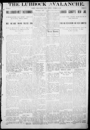 The Lubbock Avalanche. (Lubbock, Texas), Vol. 10, No. 23, Ed. 1 Thursday, December 16, 1909