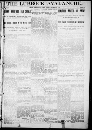 Primary view of object titled 'The Lubbock Avalanche. (Lubbock, Texas), Vol. 10, No. 24, Ed. 1 Thursday, December 23, 1909'.