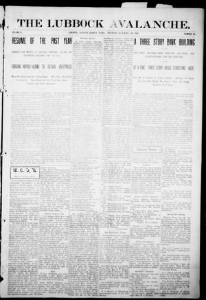 The Lubbock Avalanche. (Lubbock, Texas), Vol. 10, No. 25, Ed. 1 Thursday, December 30, 1909