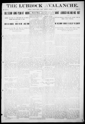 The Lubbock Avalanche. (Lubbock, Texas), Vol. 10, No. 32, Ed. 1 Thursday, February 17, 1910