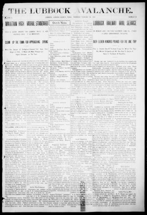 The Lubbock Avalanche. (Lubbock, Texas), Vol. 10, No. 33, Ed. 1 Thursday, February 24, 1910