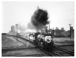 "Primary view of object titled '[""Louisiana Limited"" leaving Fort Worth]'."