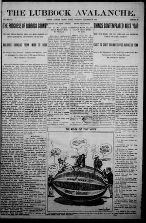 The Avalanche. (Lubbock, Texas), Vol. 13, No. 25, Ed. 1 Thursday, December 26, 1912