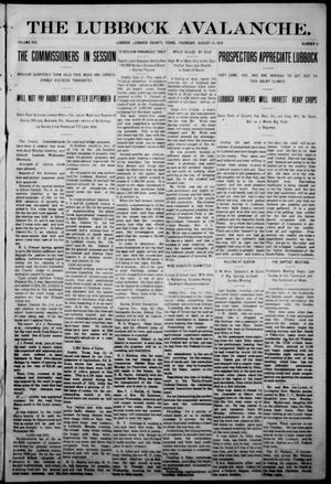 The Avalanche. (Lubbock, Texas), Vol. 14, No. 6, Ed. 1 Thursday, August 14, 1913