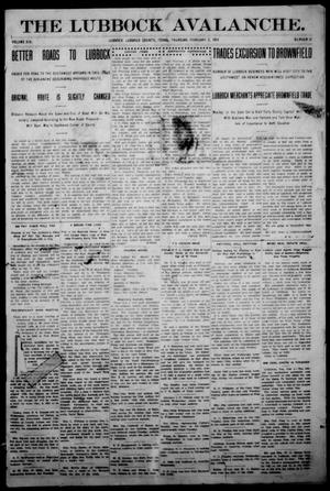 The Avalanche. (Lubbock, Texas), Vol. 14, No. 31, Ed. 1 Thursday, February 5, 1914