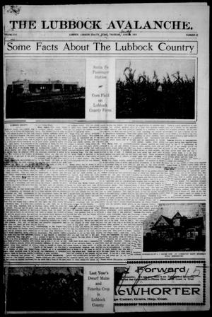 The Avalanche. (Lubbock, Texas), Vol. 14, No. 52, Ed. 1 Thursday, July 2, 1914