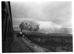 "Primary view of object titled '[""Argonaut"" passenger trains in West Texas]'."