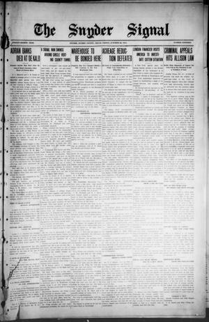 The Snyder Signal. (Snyder, Tex.), Vol. TWENTY-EIGHTH YEAR, No. NINETEEN, Ed. 1 Friday, October 23, 1914