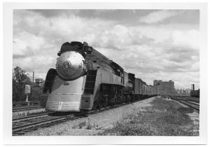 Primary view of object titled '[Southern Pacific Locomotive in Dallas]'.
