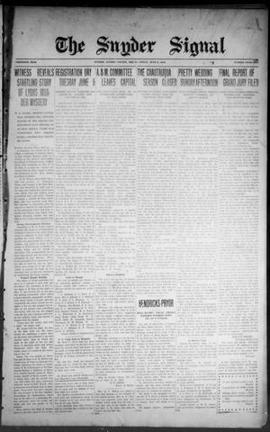 The Snyder Signal. (Snyder, Tex.), Vol. THIRTIETH YEAR, No. FIFTY-TWO, Ed. 1 Friday, June 8, 1917