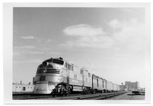 "Primary view of object titled '[""Sam Houston Zephyr""  arriving in Dallas]'."