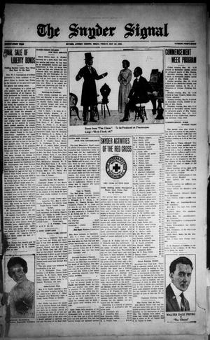The Snyder Signal. (Snyder, Tex.), Vol. THIRTY-FIRST YEAR, No. FORTY-EIGHT, Ed. 1 Friday, May 10, 1918
