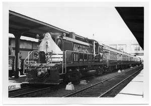 Primary view of object titled '[Cotton Belt train at Dallas Union Terminal]'.