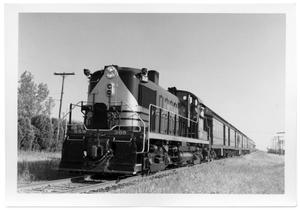 Primary view of object titled '[Cotton Belt train at University Park, Texas Depot]'.