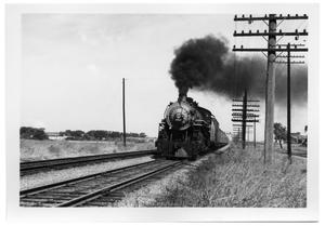Primary view of object titled '[Missouri - Kansas - Texas train near Dallas]'.
