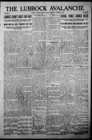 The Lubbock Avalanche. (Lubbock, Texas), Vol. 20, No. 28, Ed. 1 Thursday, January 8, 1920