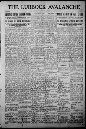 The Lubbock Avalanche. (Lubbock, Texas), Vol. 20, No. 30, Ed. 1 Thursday, January 22, 1920