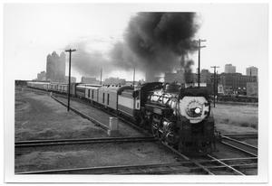 "Primary view of object titled '[The ""Louisisana Limited"" leaving Fort Worth, Texas]'."