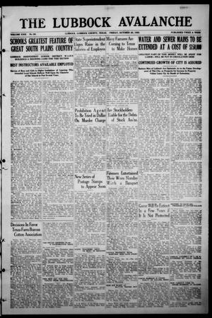 The Lubbock Avalanche. (Lubbock, Texas), Vol. 23, No. 68, Ed. 1 Friday, October 20, 1922
