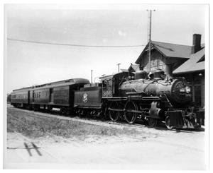 [Train at Gainesville, Texas depot]