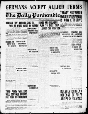 Primary view of object titled 'The Daily Panhandle. (Amarillo, Texas), Vol. 12, No. 243, Ed. 1 Friday, July 9, 1920'.