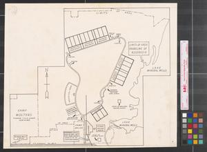 Primary view of object titled '[Site map of Camp Wolters and Camp Dallas]'.