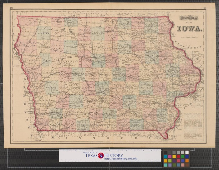 Gray's atlas map of Iowa. - The Portal to Texas History on map of wisconsin, sioux center iowa, washington iowa, map of alabama, map of ohio, walnut iowa, altoona iowa, fremont iowa, ottumwa iowa, eldora iowa, decorah iowa, adel iowa, dyersville iowa, map of mississippi, toledo iowa, fort madison iowa, early iowa, airports in iowa, map of maine, red oak iowa, map of pennsylvania, road map iowa, adair iowa, google maps iowa, cities in iowa, map of kentucky, hull iowa,