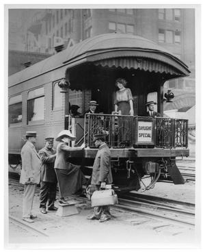 "Primary view of object titled '[""Daylight Special"" at Chicago Central Station]'."