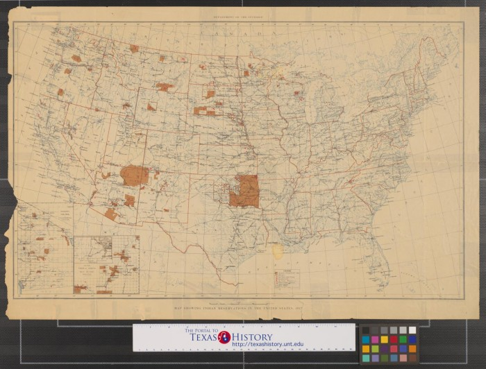Map Showing Indian Reservations In The United States The - Indian reservations us map