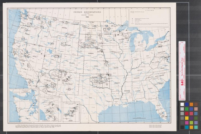 Indian Reservations In The United States The Portal To - Map of us indian reservations