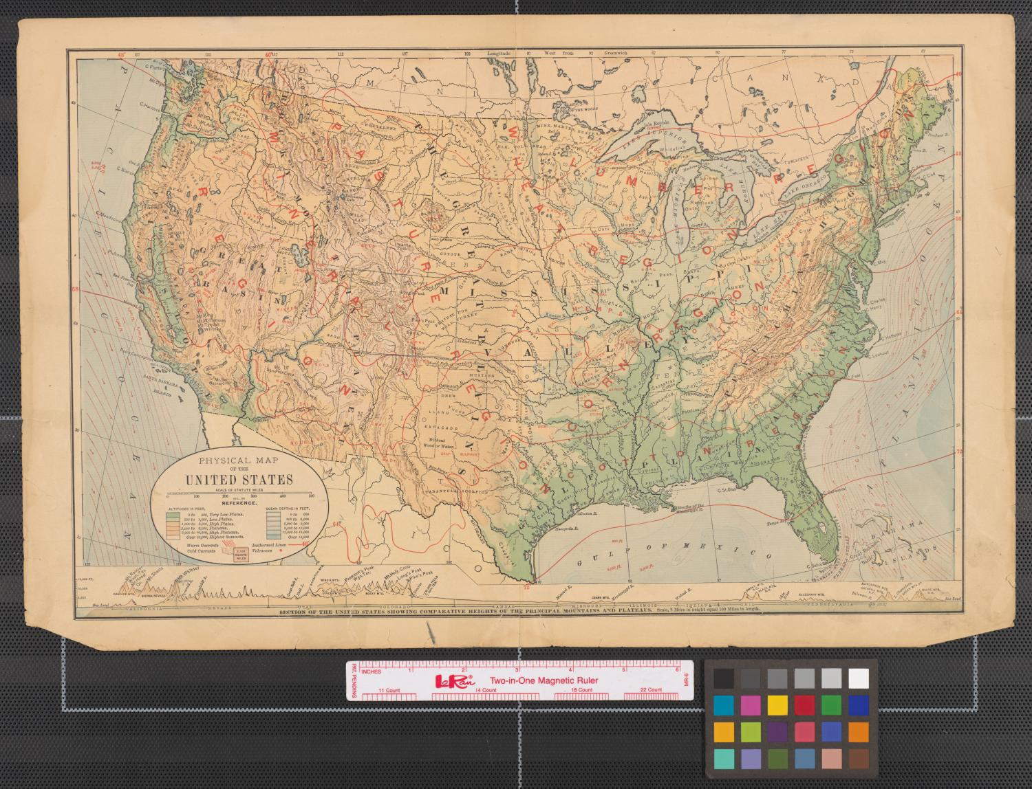 Picture of: Physical Map Of The United States The Portal To Texas History