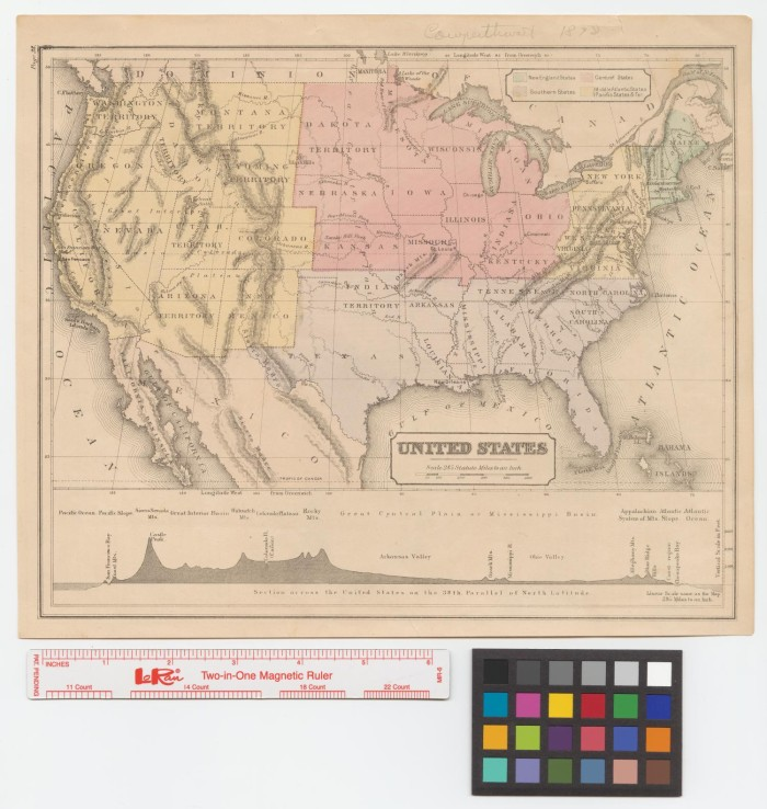 38th parallel map united states United States: [with] Section across the United States on the 38th