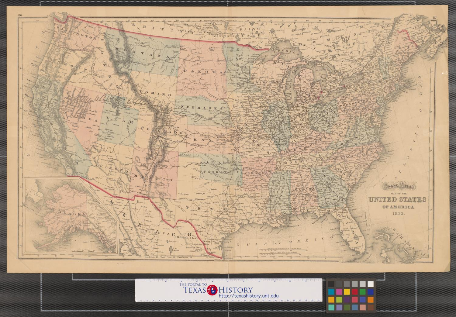 Gray's atlas map of the United States of America, 1873 ...