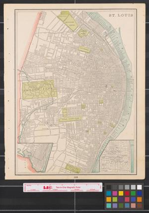 Primary view of object titled '[Maps of St. Louis and Kansas City]'.