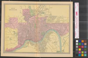 Primary view of object titled 'Map of Cincinnati.'.