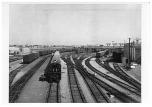 Primary view of object titled '[Rail lines south of Dallas' Union Station]'.