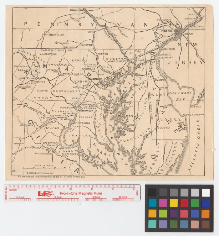 Map of Maryland and Delaware] - The Portal to Texas History