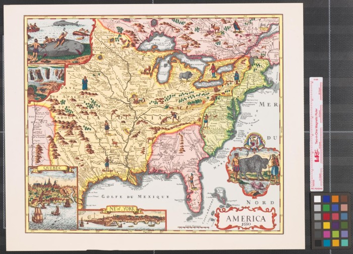 Map Of America History.America 1690 The Portal To Texas History