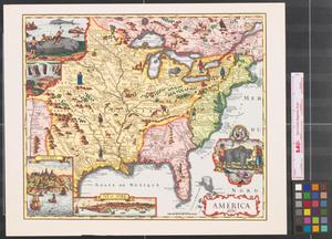 Primary view of object titled 'America, 1690.'.