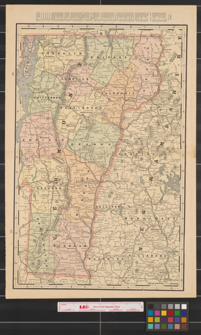 Maps of Vermont, the Cities of Lowell and Lynn, Massachusetts, and ...