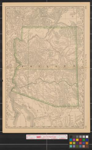 Primary view of object titled 'Rand McNally & Co.'s Arizona.'.