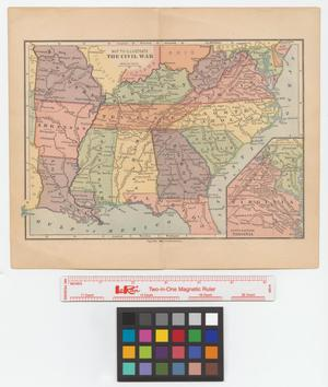 Primary view of object titled 'Map to illustrate the Civil War.'.