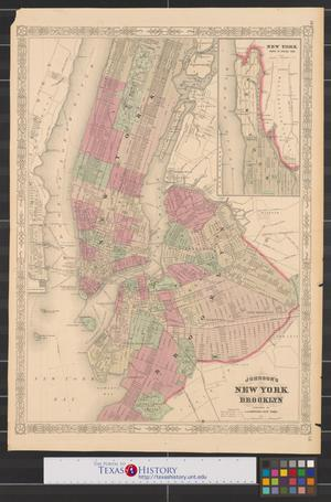 Primary view of object titled 'Johnson's New York and Brooklyn.'.