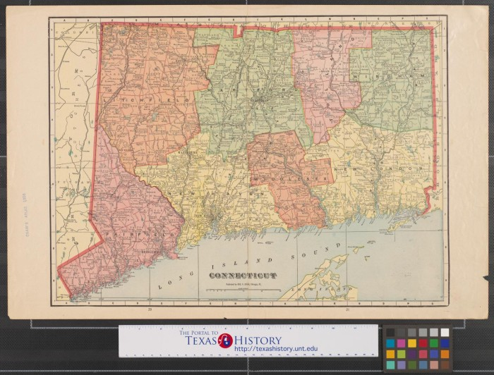 Maps Of Connecticut New York Massachusetts And Rhode Island The