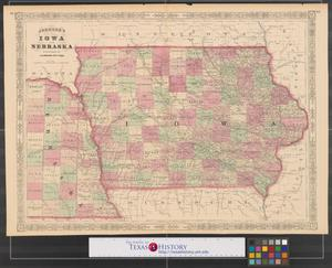Primary view of object titled 'Johnson's Iowa and Nebraska.'.