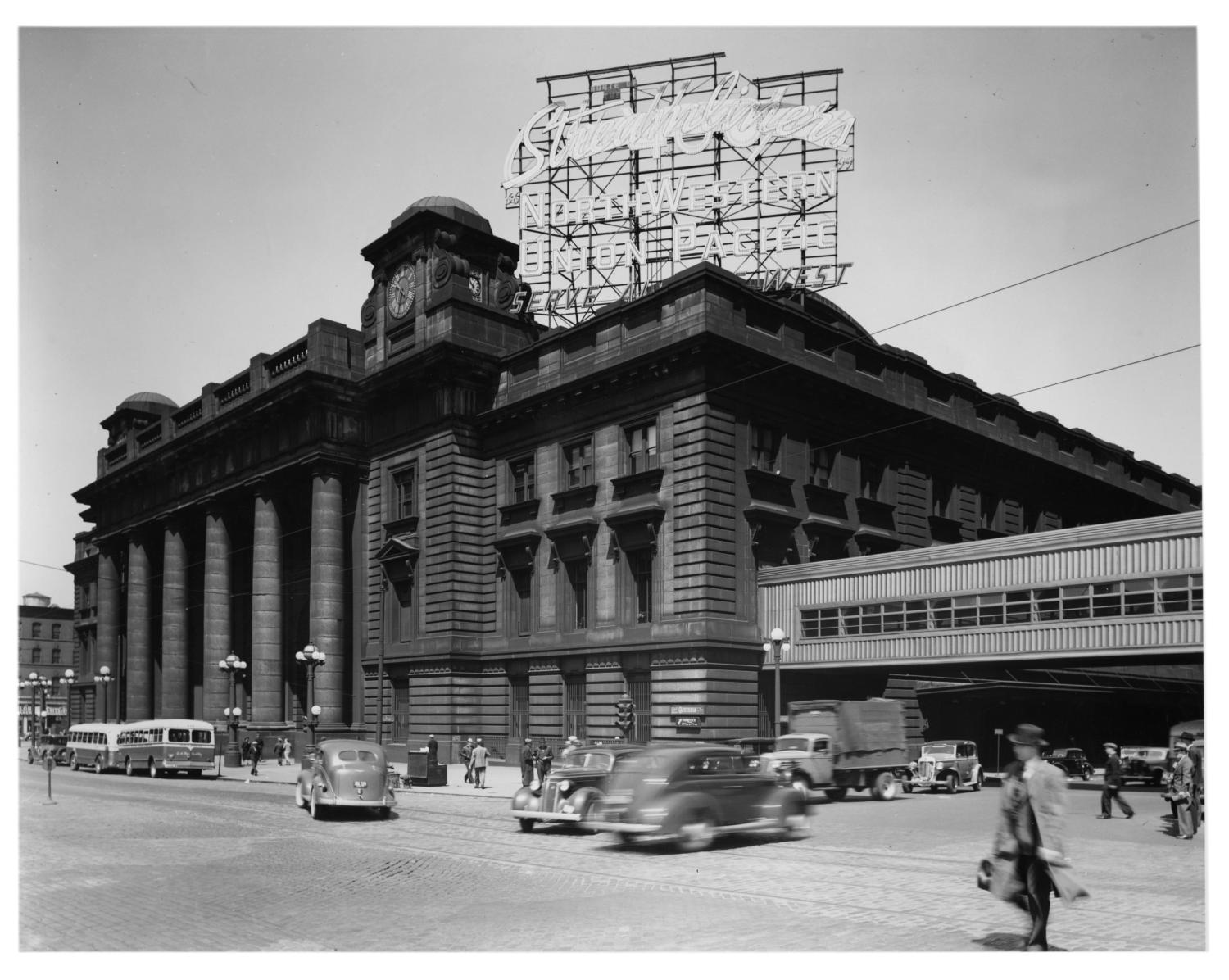 Chicago and North Western Railway's passenger station] - The